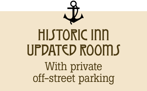 historic inn, updated rroms, private off-street parking
