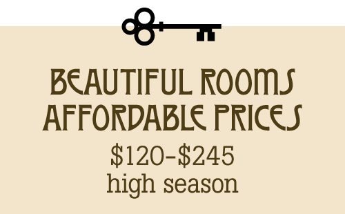 beautiful rooms, affordable prices